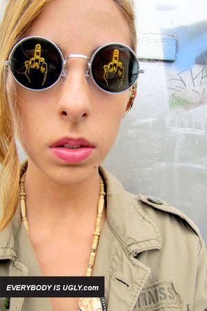 middle finger giant vintage sunglasses