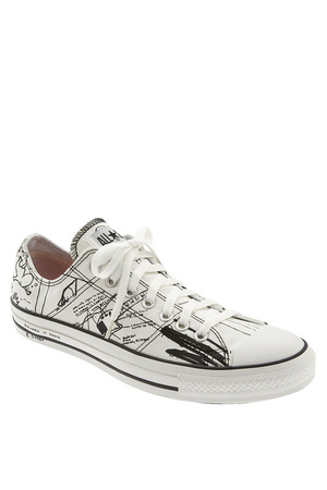 white kurt cobain Converse shoes