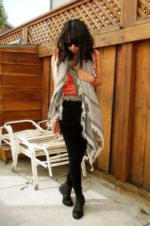 vintage from American Rag vest - American Apparel pants - Ebay scarf - Alexander