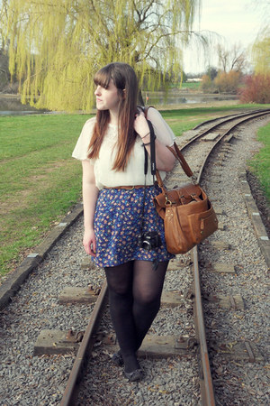 black River Island shoes - navy worn as skirt modcloth dress - brown Dorothy Per