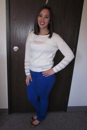 denim Banana Republic Factory Store jeans - Ann Taylor Loft sweater