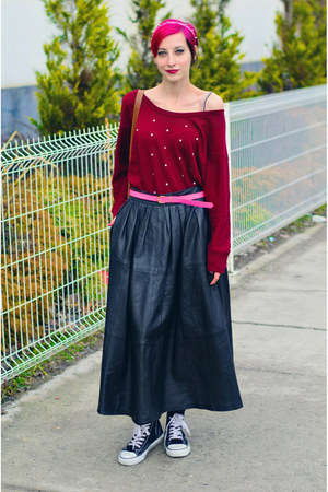 nowIStyle top - leather second hand skirt