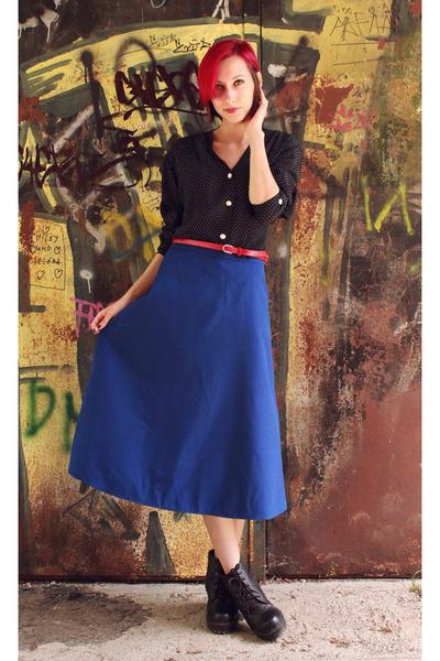 vintage blouse - vintage skirt