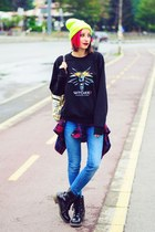 the witcher sweatshirt - asos jeans - neon nowIStyle hat