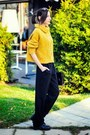 Mustard-knitted-bershka-sweater-n-1-pants