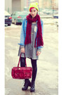 Neon-nowistyle-hat-denim-second-hand-jacket-h-m-scarf-second-hand-bag