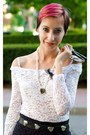 White-lace-megz-dress-purple-second-hand-skirt-pearl-diy-necklace