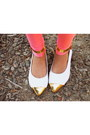 Gold-french-tip-yaya-flats-bubble-gum-neon-7senses-leggings