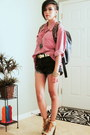Black-oasap-bag-black-dip-dyed-guess-shorts