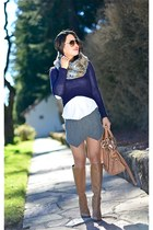 Dolce Vita sweater - James Perse shirt - Zara skirt