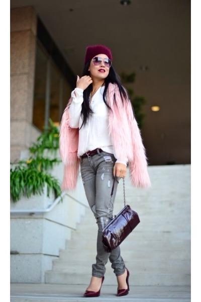 Mural coat - Genetic Denim jeans - Zara hat - Zara blouse