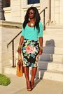 Aquamarine-urbanbehaviour-sweater-camel-jcrew-purse-black-floral-h-m-skirt