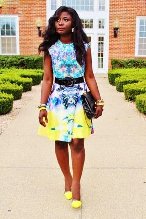 light yellow H&M dress