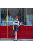 Topshop accessories - Chanel bag - Prada sunglasses - Zara skirt
