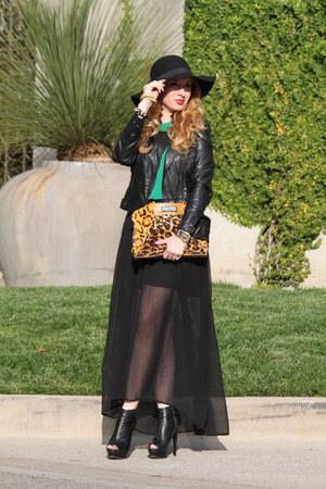 Just Cavalli bag - Topshop hat - BCBG jacket - asos bracelet