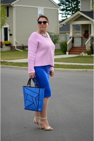 424 Fifth sweater - bcbg max azria bag - 424 Fifth skirt - Express sandals