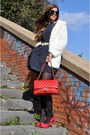 Navy-ax-paris-dress-red-chanel-bag-blue-prada-sunglasses