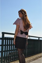 black pepa loves dress - black Calzedonia tights - black Fendi bag