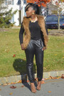 Black-joggers-pants-brown-tannys-couture-vest-crimson-tannys-couture-vest