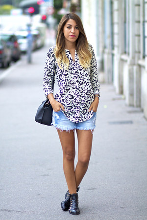 Billabong shirt - asos boots - Zara bag - Billabong shorts