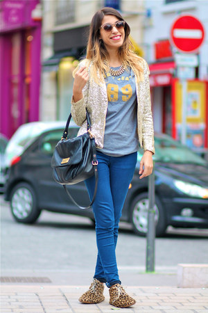 H&amp;M jacket - Anniel shoes - H&amp;M necklace - DKNY jeans t-shirt - Zara pants