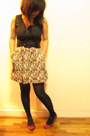 dress - Dorothy Perkins stockings - shoes