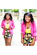 pink cotton asos blazer