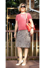 Red-bcbg-max-azria-dress-salmon-jones-new-york-sweater-milly-bag