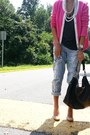 Cole-haan-bag-h-m-cardigan-urban-outfitters-t-shirt-delias-pants