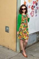 floral Tulle dress - burt sienna imported sunglasses - skinny Cheap Monday belt