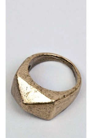 antiqued gold imported ring