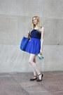 Blue-big-blue-bag-blue-high-waisted-forever-21-skirt