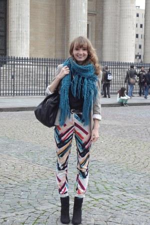 Bershka blouse - H&M boots - Mango bag - H&M vest - H&M pants