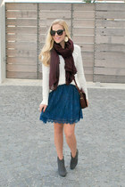 Lauren Conrad dress - free people sweater - Target scarf