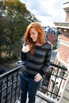H&M jumper - H&M boots - Levis jeans - H&M bag