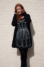 Black-rosalind-keep-x-oasis-dress-black-h-m-cardigan-black-zara-shoes