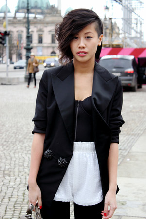 lanvin blazer - AVANTGARDE shorts - H&amp;M bra