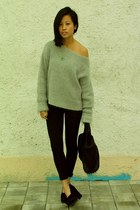 heather gray Gharani Strok London jumper - black Zara leggings