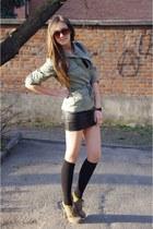 asos boots - Vila dress - thrifted vintage jacket - asos socks - asos sunglasses