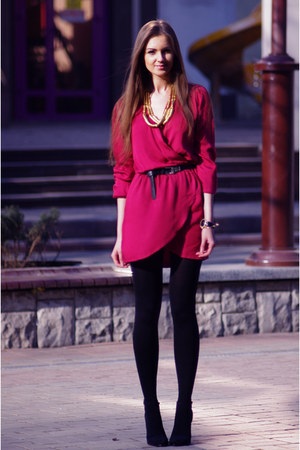 maroon Love dress