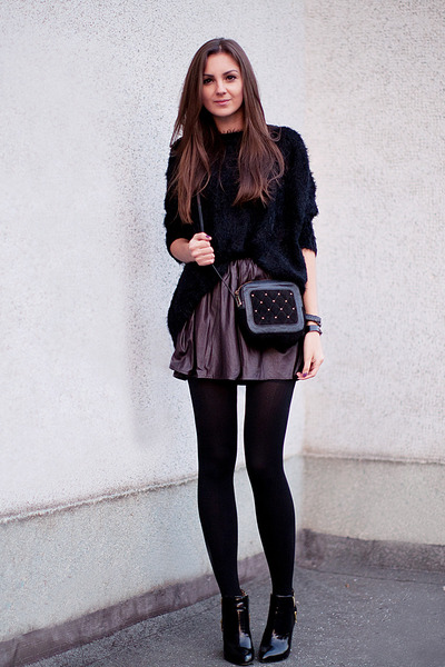 black nowIStyle sweater - black patent leather Zara boots