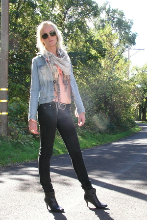 blouse - Old Navy jacket - Forever 21 scarf - True Religion jeans - Aldo boots -