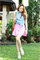 denim Plush clothing top - neon Sei Bella skirt