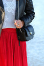Crimson-leather-h-m-jacket-white-zara-top