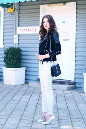 Diane Von Furstenberg heels - asos jacket - Target bag - Michael Kors watch
