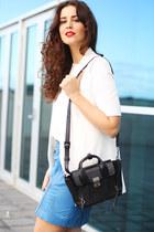 Oasis skirt - Portsman jacket - 31 Phillip Lim bag - Windsorsmith heels