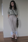 Zara-pants-zara-blouse-h-m-diy-fur-tail-purse-michael-kors-shoes