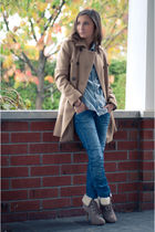 Zara coat - Zara jeans - Zara blouse - Aldo shoes