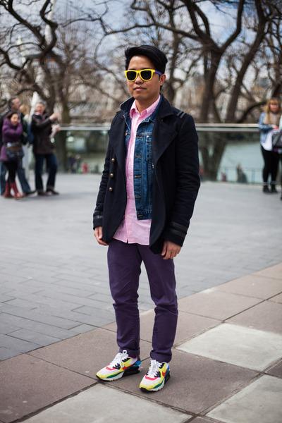 air max 90 nike shoes - River Island coat - denim H&M jacket