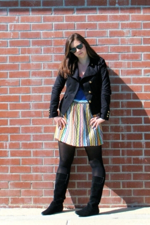 Ray Ban sunglasses - H&amp;M jacket - Micheal Stars shirt - vintage skirt - Urban Ou